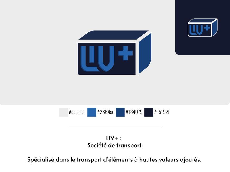 LIV+ Transport image de marque vector logo illustrator cc