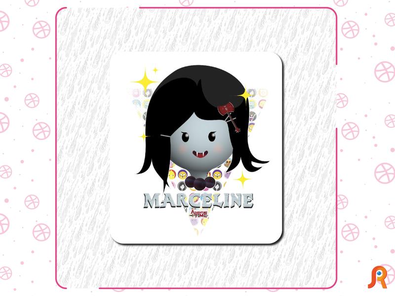 Marceline (Adventure time) logo mosaic design vector adventure time
