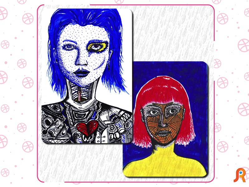 Women papier photo stylo encre dessin illustration design