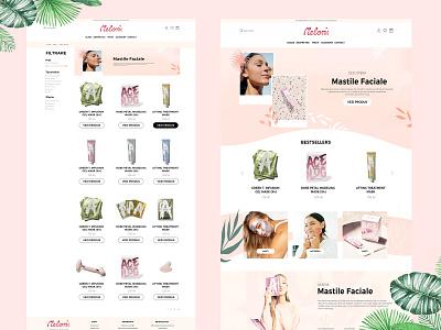 Meloni Face Masks - Web Design light design layout minimal website design online store layout online store design online store layoutdesign webdesign