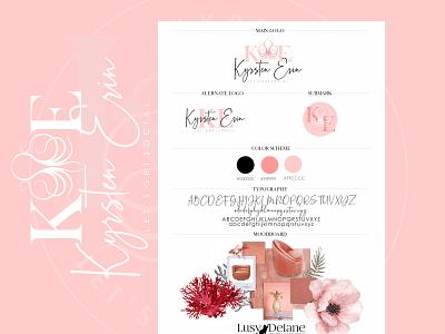 Kyrsten Erin - Custom Logo Design vector branding logo design handwrittenfont colorful logo branding concept brand identity