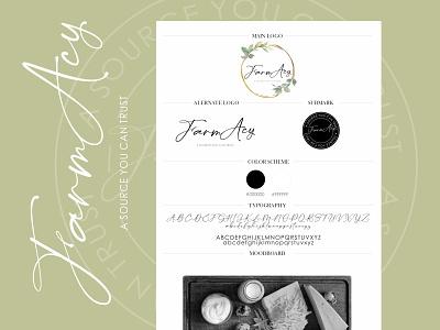 FarmAcy - Custom Branding branding colorful logo handwritten logo vector logo handwrittenfont branding concept brand identity
