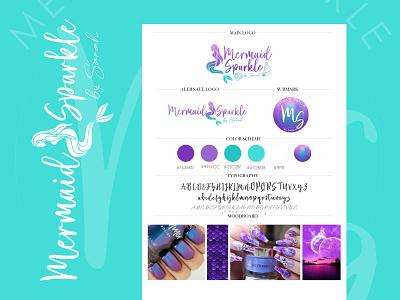 Mermaid Sparkle - Custom Logo Design/Branding nails logo logodesigns purple mermaid logodesign logo colorful logo branding concept brand identity
