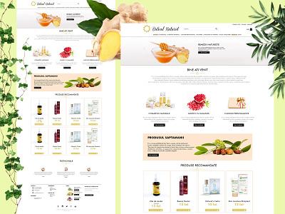 Buticul Naturist - Online Shop Web Design logo design web layout online shop web design