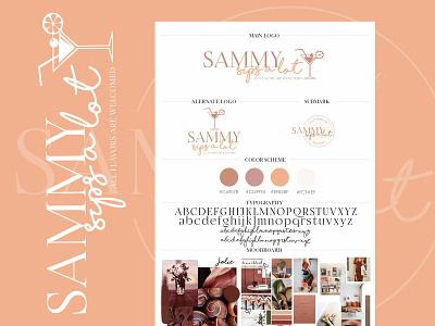 Sammy Sips a Lot - Logo Design custombranding customlogo logobar logodrinks logo brand identity