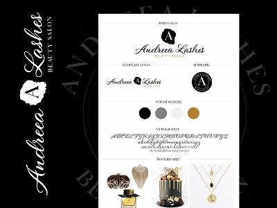 Andreea Lashes - Logo Design branding logo design concept lashes logo logo design branding logo designer logo designs