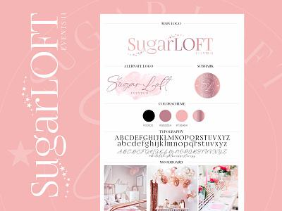 Sugar Loft - Logo Design rosegold events logo custom branding custom logo logodesign rosegold logo colorful logo