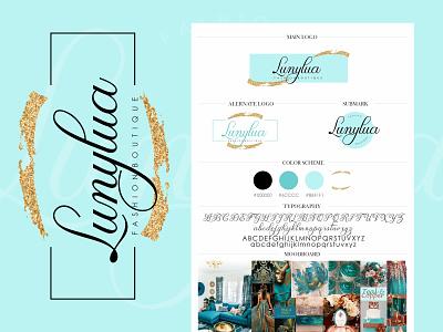 Lunylua - Fashion Boutique custom logo custom branding handwrittenfont vector fashion brand fashionboutique colorful logo branding logo brand identity