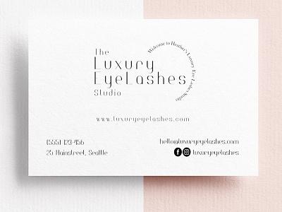 Business Card Design for The Luxury Eye Lashes Studio design brand identity logodesign businesscarddesign businesscard