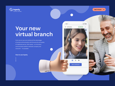 Inperly - Landing Page uix ux user experience product design development visual identity branding strategy brand typography colors logo website interface app webdesign design