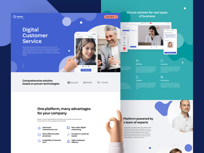 Inperly - Landing Page grid illustration clean design webdesign app interface clean ui typography strategy branding visual identity development product design user experience ui