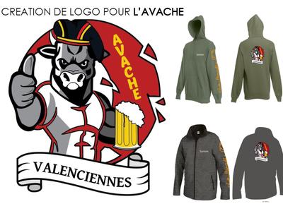 L'AVACHE, création de logo design logo