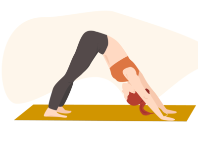 Woman yoga - asana yoga pose asana yoga yoga app web minimal flat vector illustration