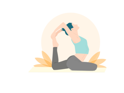 Woman Yoga - Asana woman illustration asana yoga pose yoga web minimal flat vector illustration