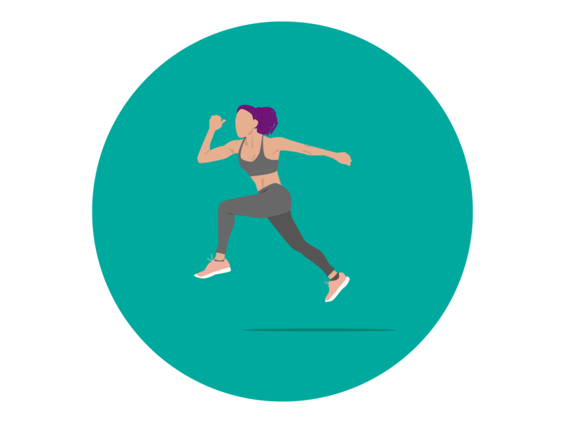 CrossFit Woman - Gym jump gym crossfit woman web minimal flat vector illustration