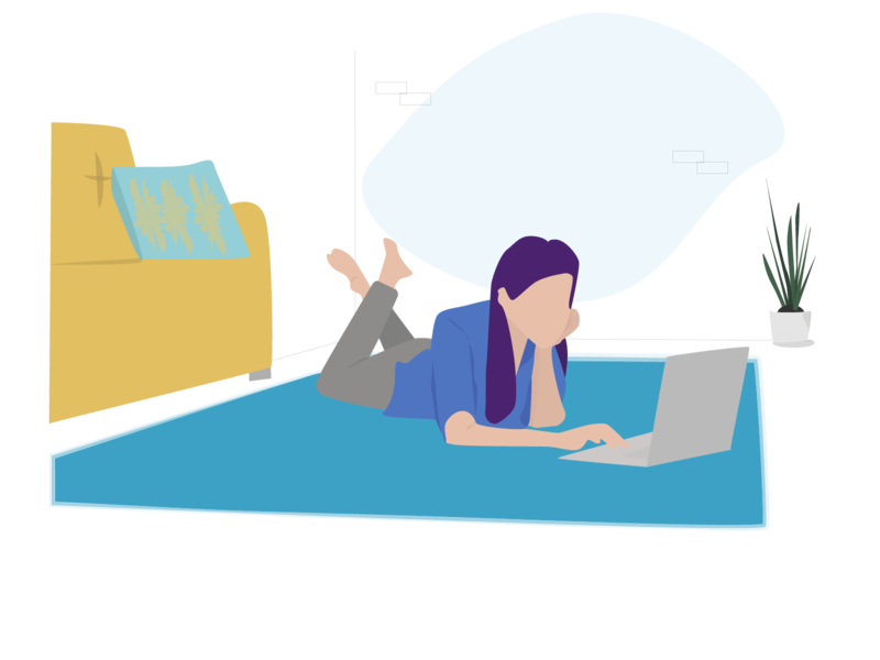 Woman Freelance - Remote working remote freelancer freelance remote working remote work web minimal flat vector illustration