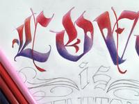 "Lettering ""doodle"""