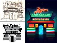 Bytes Logo Process