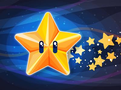 Award campaign launch star digital design dashboard ux ui galaxy star vector illustrator