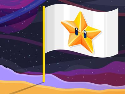 Reminder to nominate star digital design dashboard ux ui galaxy star vector illustrator