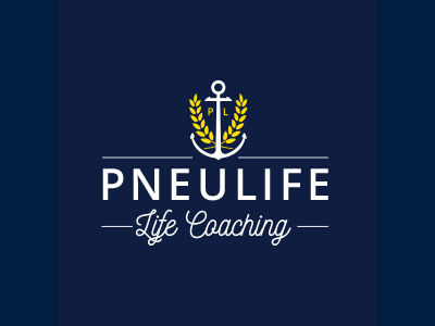 Pneulife logo identity branding life coaching wheat anchor vector logomark