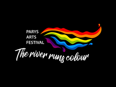 Parys Arts Festival Logo river colorful hand crafted illustrator illustration logo