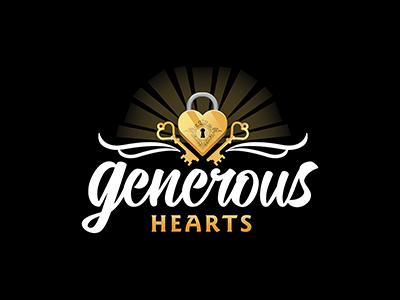 Generous Hearts Logo handmade vector keys lock heart illustration illustrator