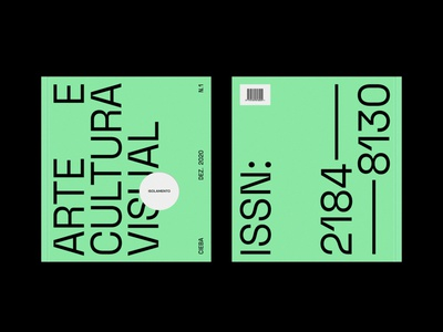 Arte e Cultura Visual #1 issue visual culture culture art isolation pandemic cover magazine branding graphic design