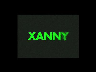 Xanny noise green cover billie eilish xanny typography type branding logo graphic design