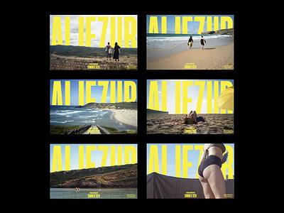 Aljezur horizon line yellow movie type branding graphic design