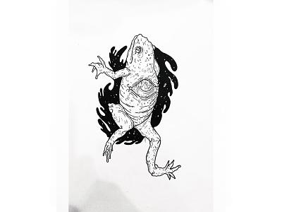 Frog logo tattoo art tattoo inktober ink illustration art illustration design artwork