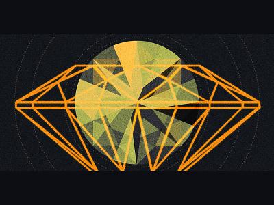 Facets gem polymath retro linear circles vintage diamond