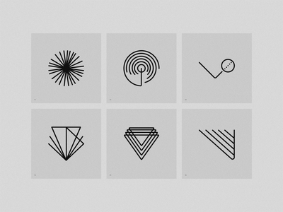 Linear Forms shapes geometric linear brand symbol logo