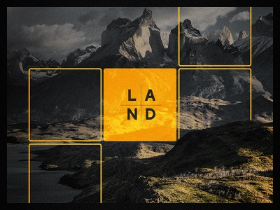 Good Land N° 001 tile game gold grainy square geometric land mountain