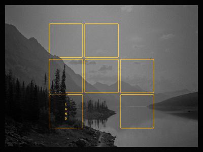 Good Land N° 002 figma vintage grid geometric gold squares tile lake mountain
