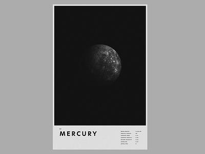 Escape Velocity / N° 1 / Mercury space poster mercury planet