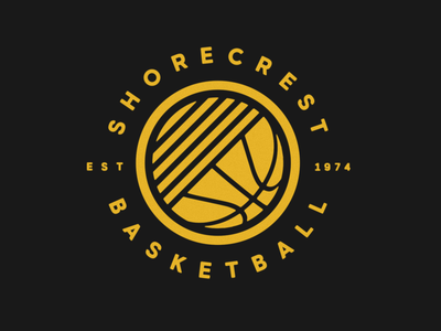 Basketball Logo circle badge logo basketball