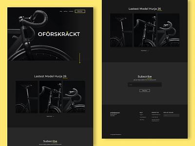 Bike Shop Web yellow black web dark modern webdesign website dailyui ui design