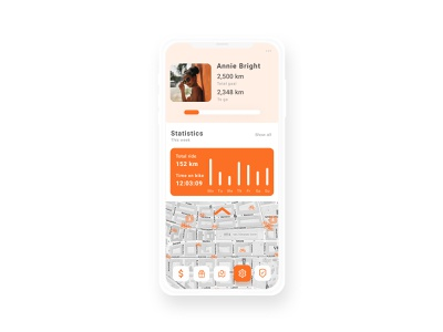 Concept Bike App User Profile user profile app dailyui mobile ui design modern