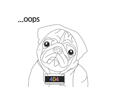 404 Page Not Found page design page not found black vector web dailyui modern illustration design