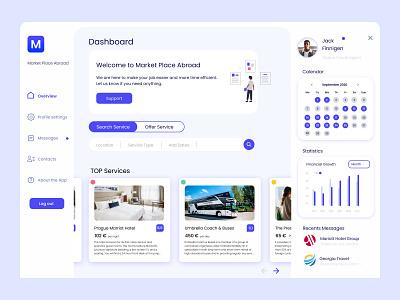 Dashboard Market Place Abroad modern dailyui mobile web ui design app desktop design desktop app