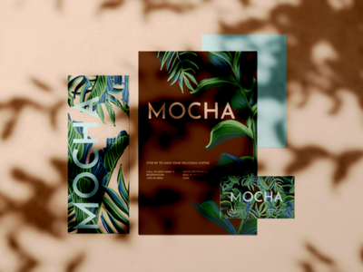 Mocha Cafe illustration design branding logo modern