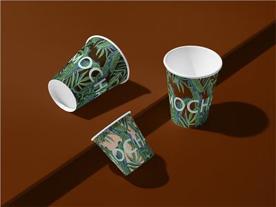 Mocha Café illustration logo branding design