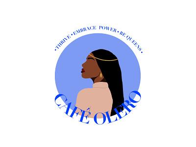 Cafe Olero modern branding logo illustration design