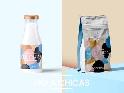 Hola Chicas branding logo illustration design modern