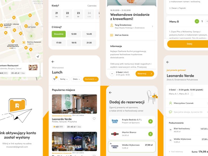 Restaurant Club - Screens booking restaurant foodie food ux e-commerce app mobile design ui