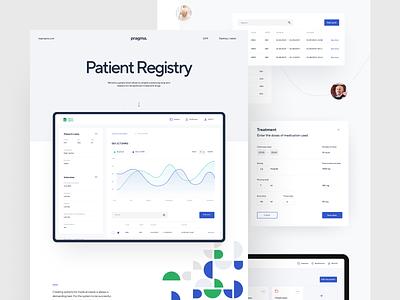 Patient Registry – Case Study dashboard ui graph medical data ui dashboard ux