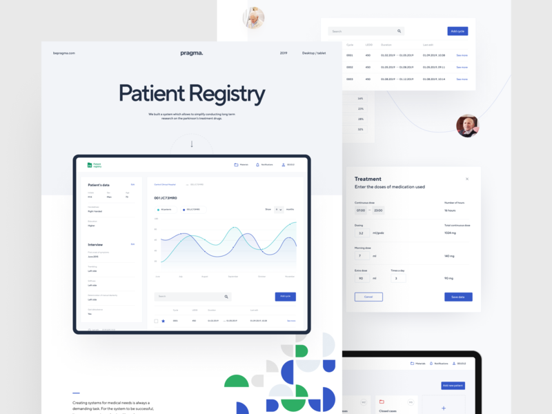 Patient Registry – Case Study dashboard ui graph medical data ui dashboard ux