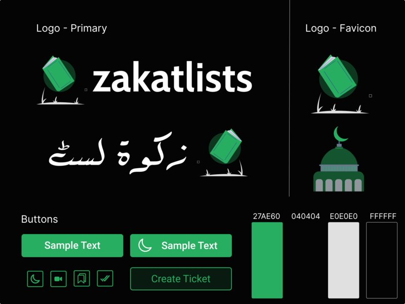 ZakatLists - Branding Mockup type art website web typography ux branding ui logo design