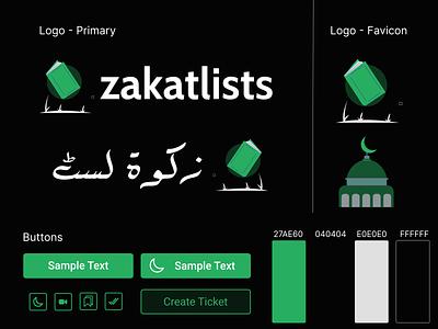 ZakatLists - Branding Mockup type art website web typography ux branding ui logo design